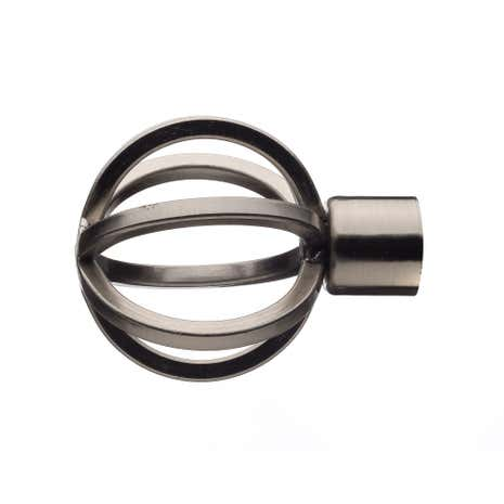 Mix and Match Dia. 16/19mm Satin Steel Cage Finials