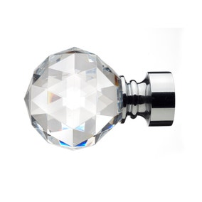 Mix and Match Chrome Faceted Finials Dia. 28mm