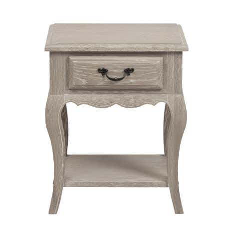 Annabelle Grey Oak 1 Drawer Bedside Table