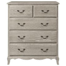 Annabelle Grey Wash Oak 5 Drawer Chest