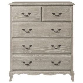 Annabelle Grey Oak 5 Drawer Chest