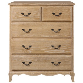 Annabelle Natural Oak 5 Drawer Chest