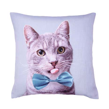 Cat Bow Tie Cushion