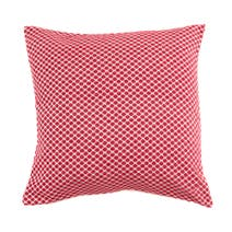 Red Chenille Polka Dot Cushion
