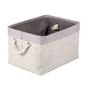 Grey Striped Basket