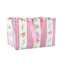 Stripes and Flowers Laundry Bag