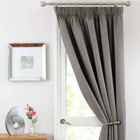 Solar Stone Thermal Pencil Pleat Door Curtain