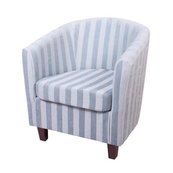 Acanthus Stripe Tub Chair