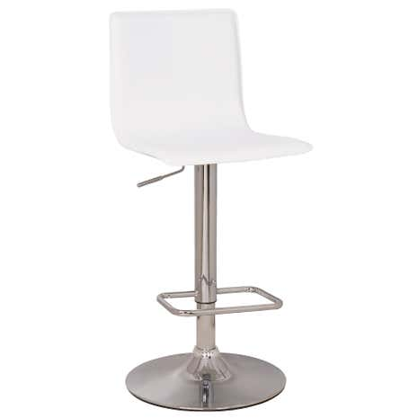 Aura Upholstered White Bar Stool