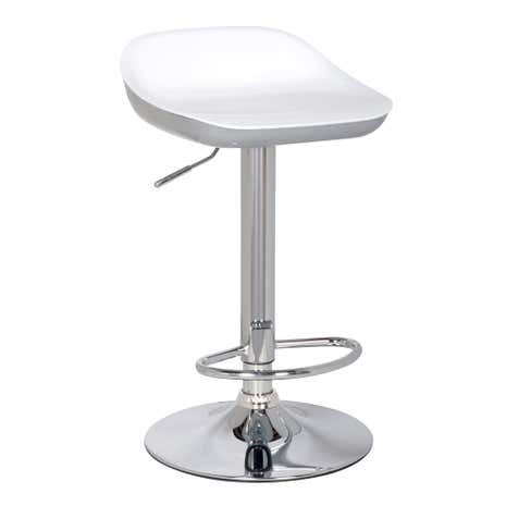 Roma Silver Gas Lift Bar Stool