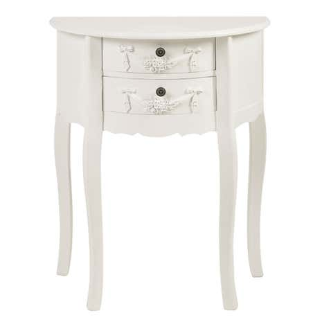 Toulouse White 2 Drawer Side Table