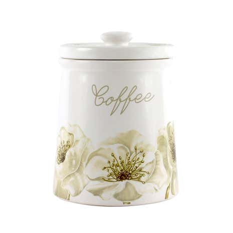Natural Flower Coffee Storage Jar