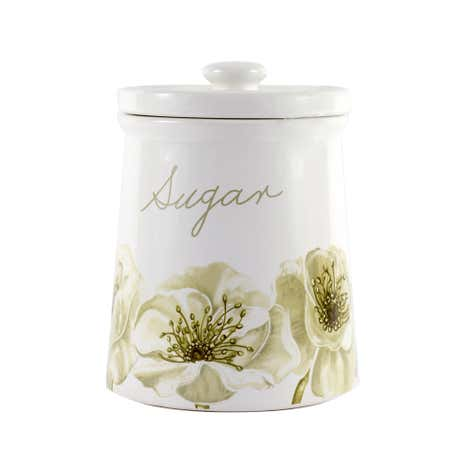 Natural Flower Sugar Storage Jar