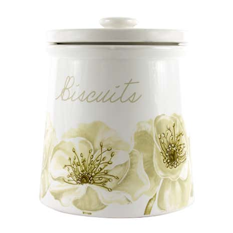 Natural Flower Biscuit Storage Jar