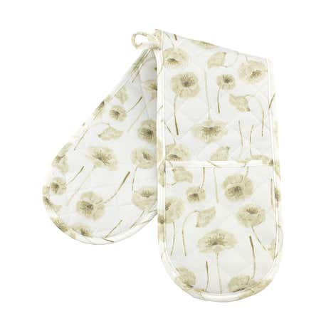 Natural Flower Double Oven Glove
