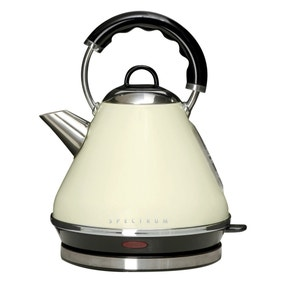 Spectrum 1.7L Cream Pyramid Kettle