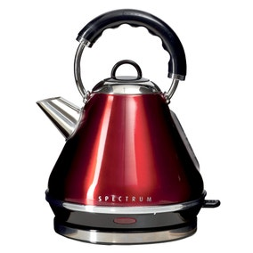 Spectrum 1.7L Red Pyramid Kettle