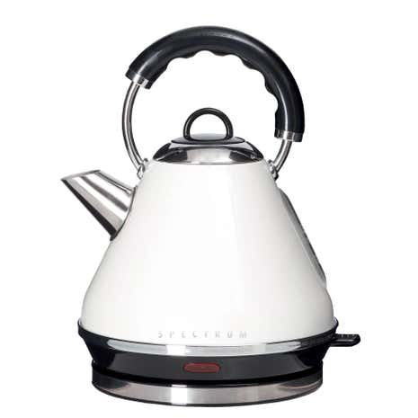 Spectrum 1.7L White Pyramid Kettle