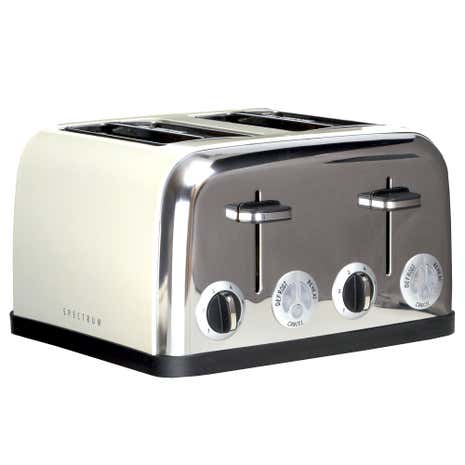 Spectrum Cream 4 Slice Toaster