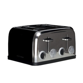 Spectrum Black 4 Slice Toaster
