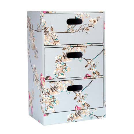 Beautiful Birds Duck-Egg Drawer Tower