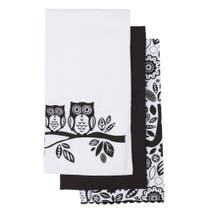 Owls Pack of 3 Tea Towels