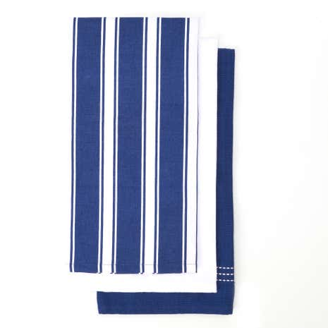 Butchers Stripe Pack of 3 Tea Towels