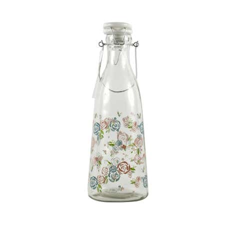 Candy Rose Floral Clip Top Water Bottle
