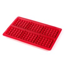 Red Silicone Waffle Mould