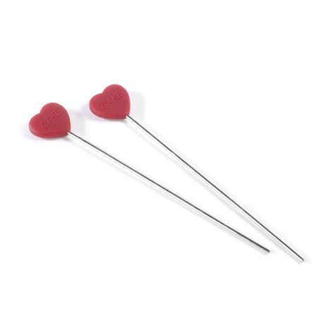 Pair of Red Silicone Cake Testers