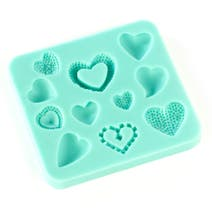 Silicone Heart Icing Mould