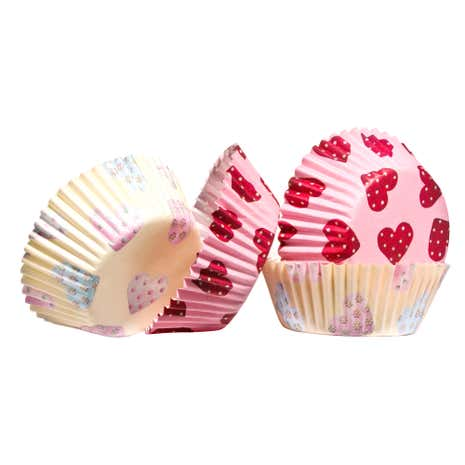 Pack of 60 Medium Hearts Cupcake Cases