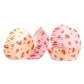Pack of 60 Medium Roses Cupcake Cases