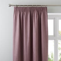 Solar Mauve Blackout Pencil Pleat Curtain