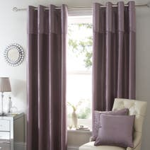 Mauve Opulence Lined Eyelet Curtains