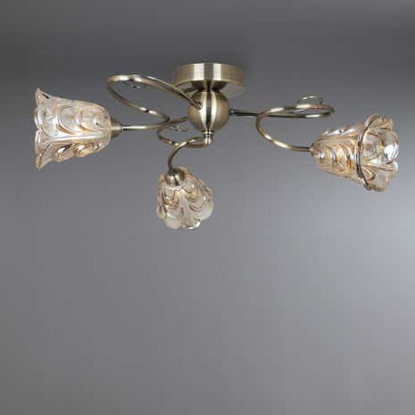 Champagne Amelia 3-Light Fitting