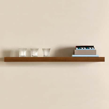 Walnut Effect Floating Shelf
