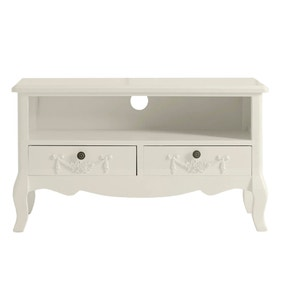 Toulouse White TV Stand