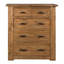 Loxley Pine 5 Drawer Chest