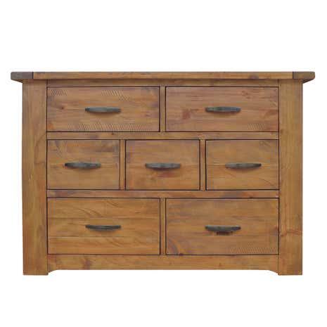 loxley pine 7 drawer chest dunelm. Black Bedroom Furniture Sets. Home Design Ideas