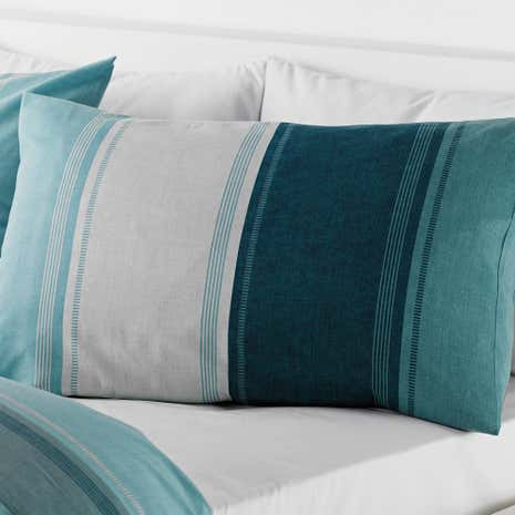 Finley Teal Housewife Pillowcase
