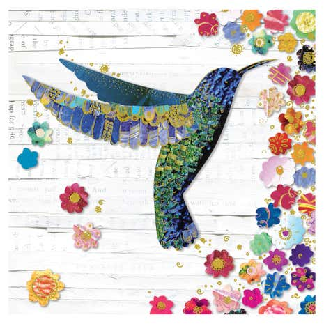 Humming Bird Blank Card