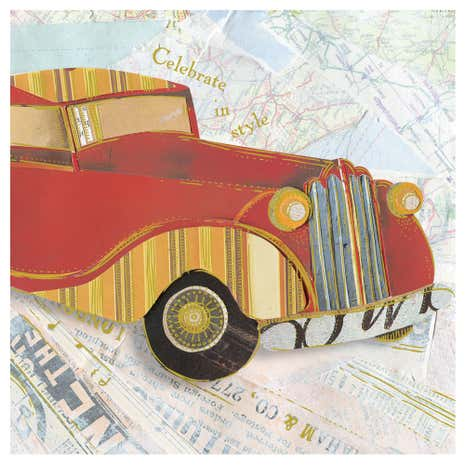 Motor Car Birthday Card