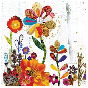 Flower Meadow Birthday Card