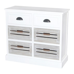 Atlanta White 6 Drawer Chest