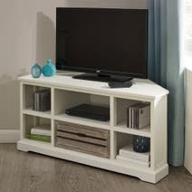 Atlanta White Corner TV Stand