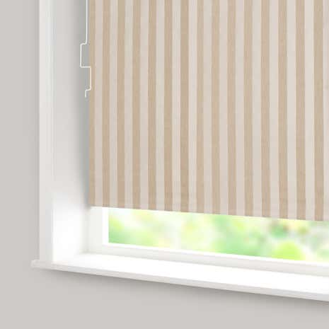 Biscuit Stripe Blackout Cordless Roller Blind
