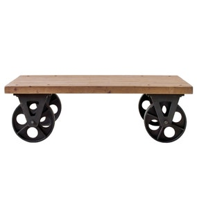 Spitalfields Coffee Table with Wheels
