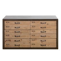 Spitalfields Pine Wide 6 Drawer Chest