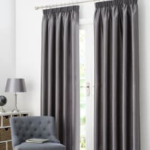 Pewter Dakota Lined Pencil Pleat Curtains